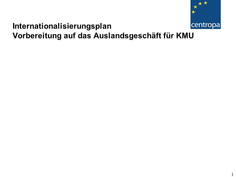Internationalisierungsplan Vorbereitung auf das Auslandsgeschäft für KMU