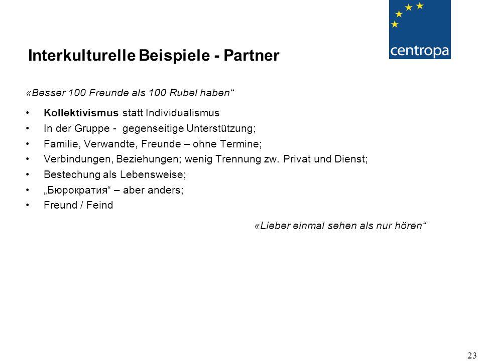 Interkulturelle Beispiele - Partner