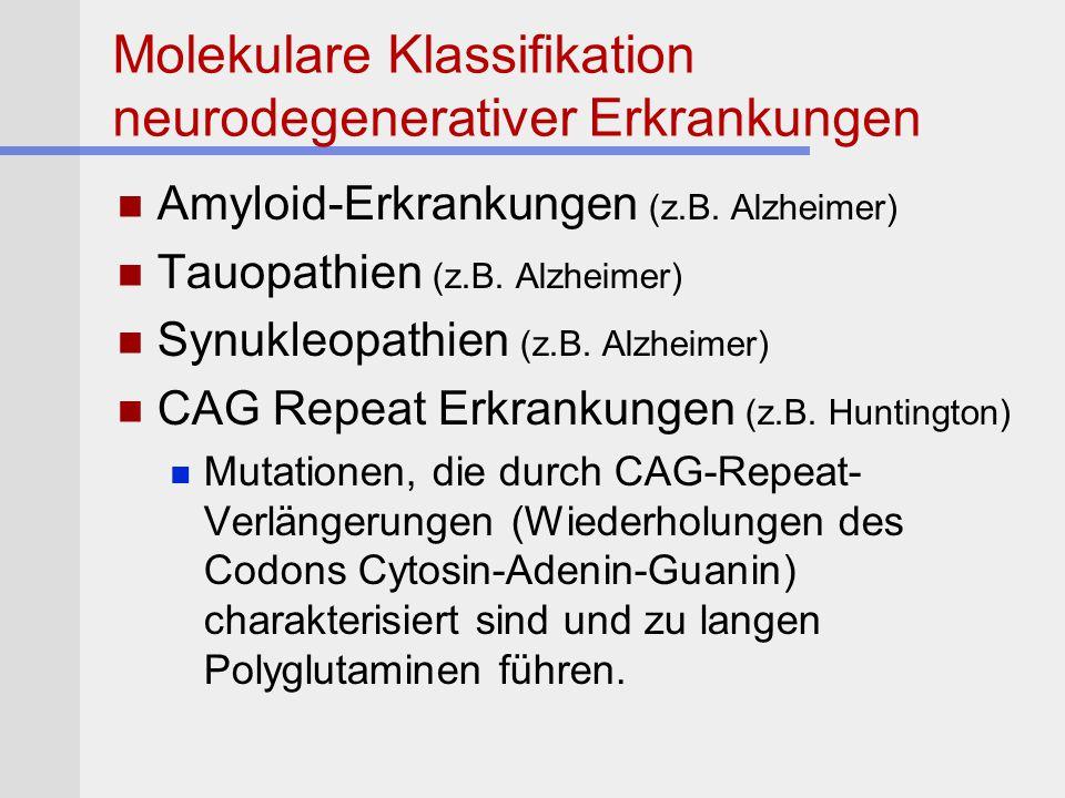 Molekulare Klassifikation neurodegenerativer Erkrankungen