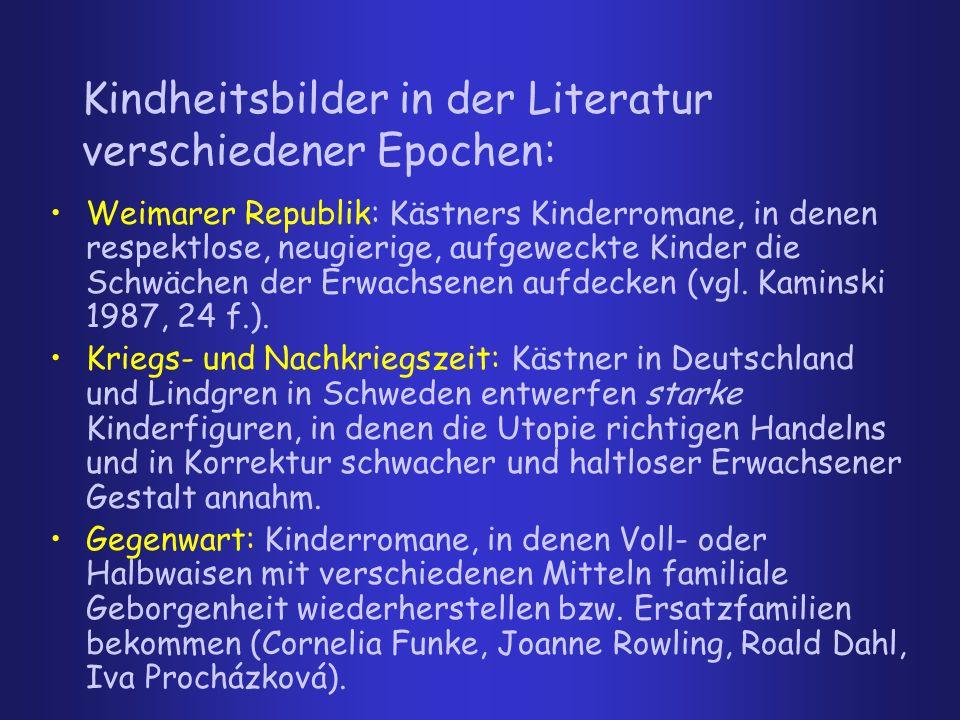 Kindheitsbilder in der Literatur verschiedener Epochen: