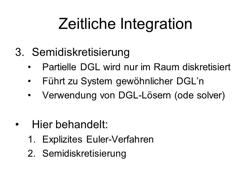 Zeitliche Integration