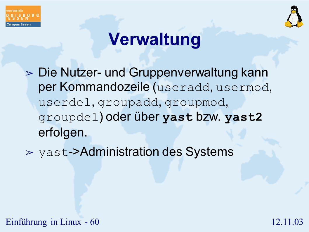 Verwaltung