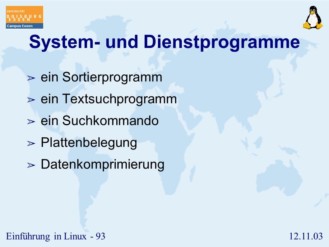 System- und Dienstprogramme