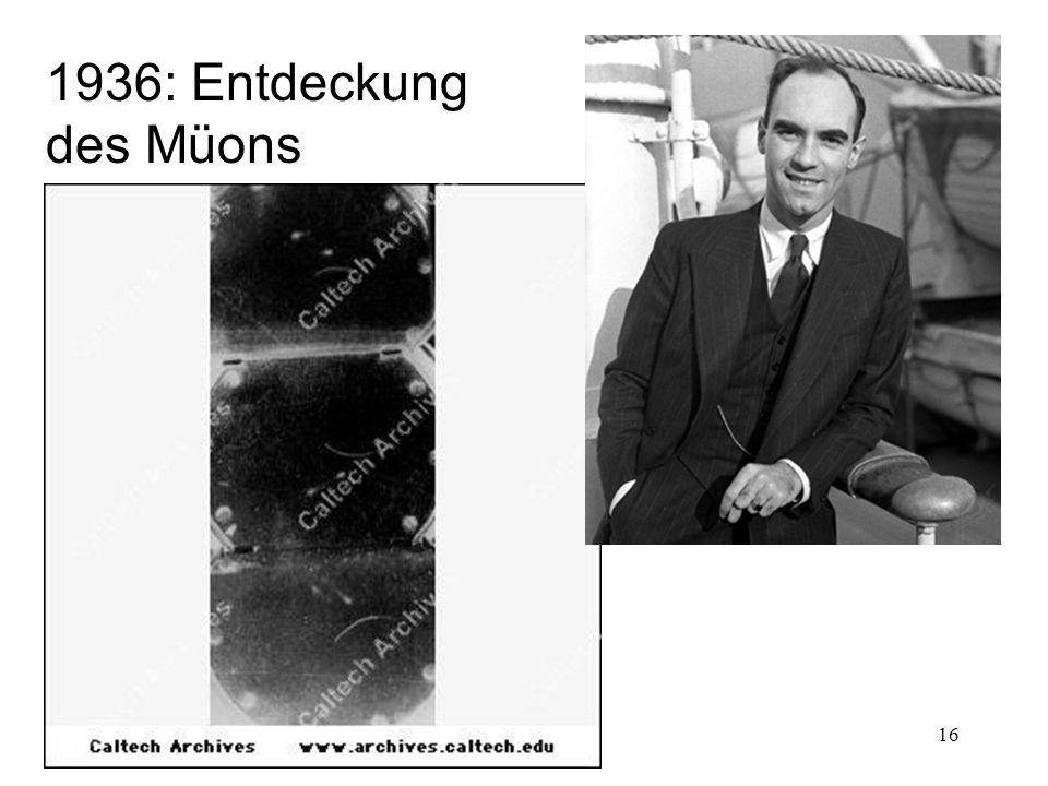 1936: Entdeckung des Müons