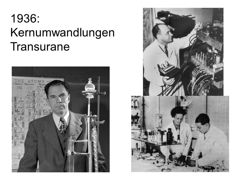 1936: Kernumwandlungen Transurane