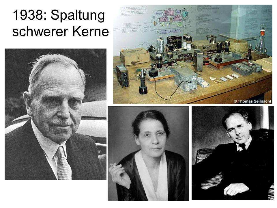 1938: Spaltung schwerer Kerne