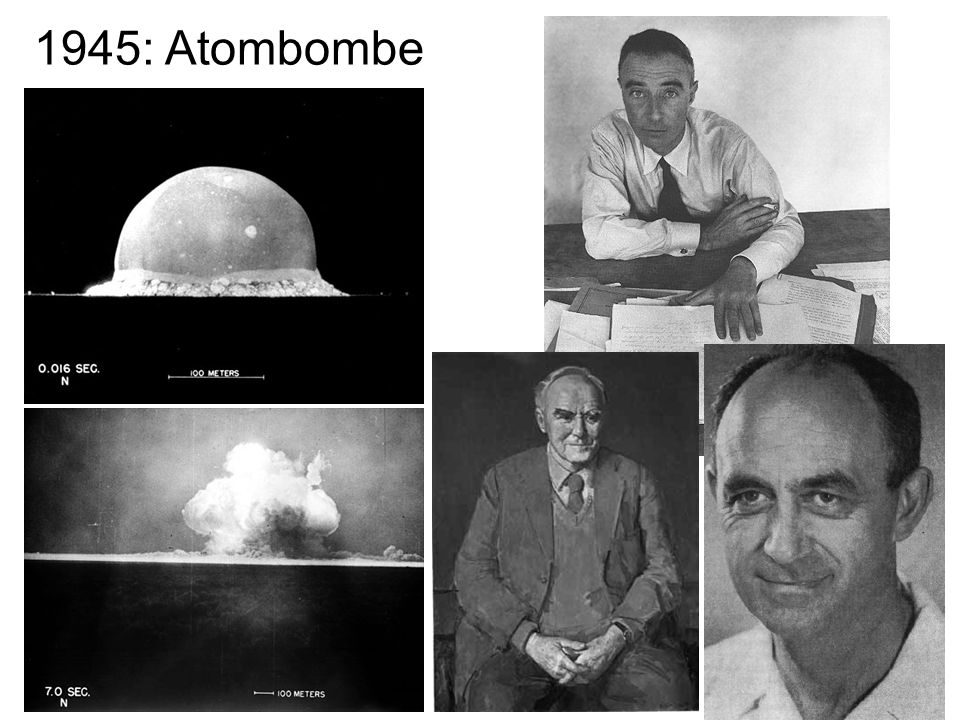 1945: Atombombe