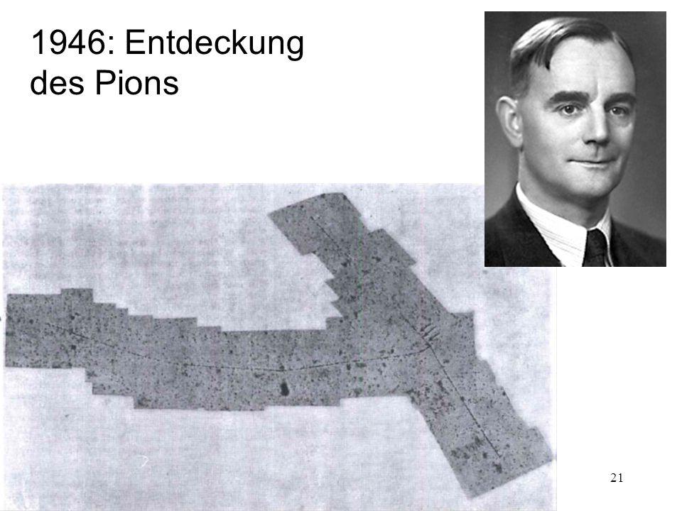 1946: Entdeckung des Pions