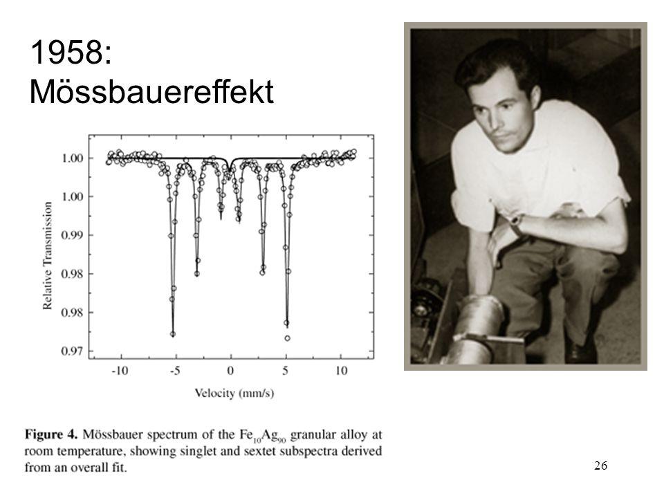 1958: Mössbauereffekt
