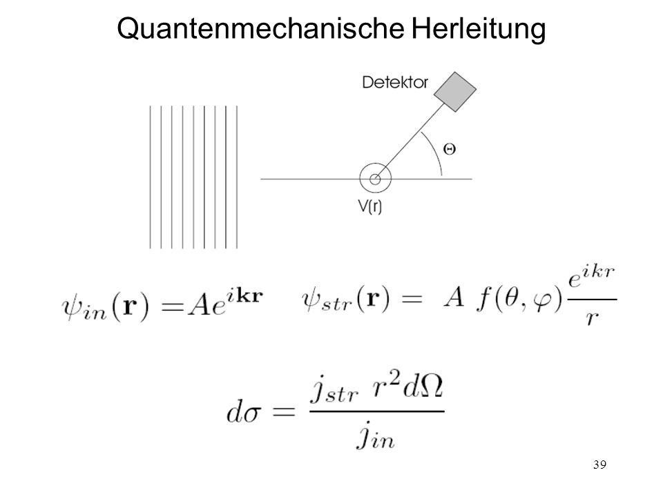 Quantenmechanische Herleitung