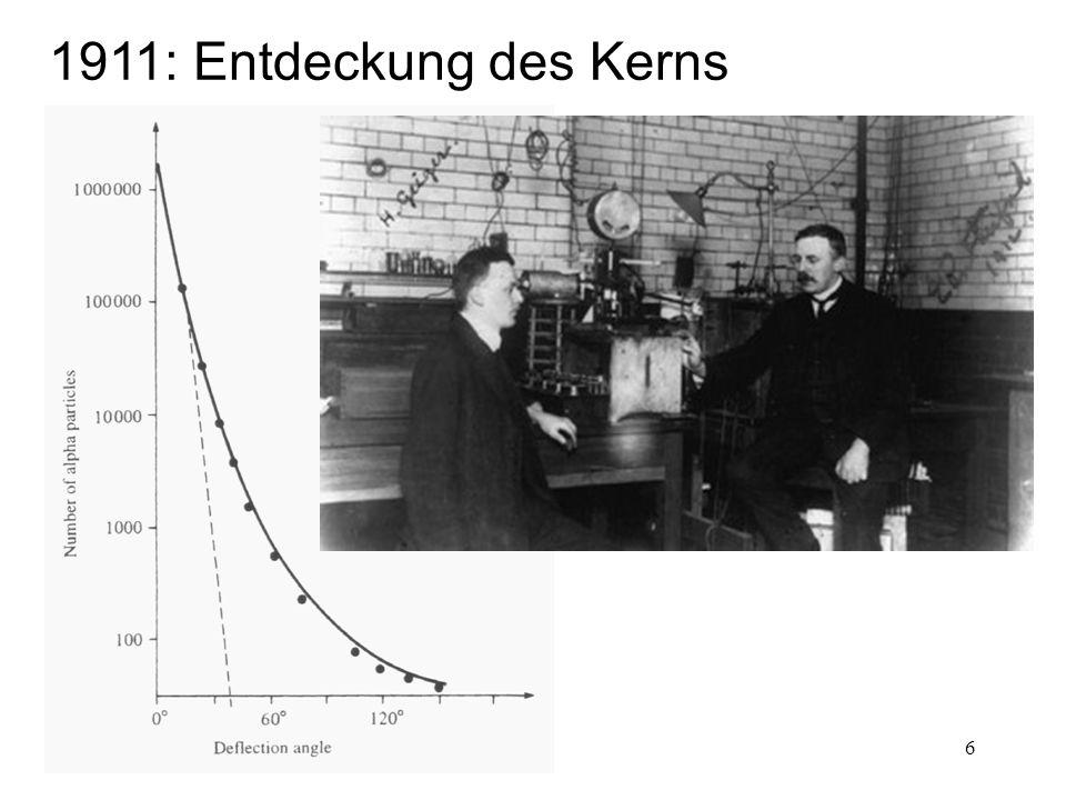 1911: Entdeckung des Kerns