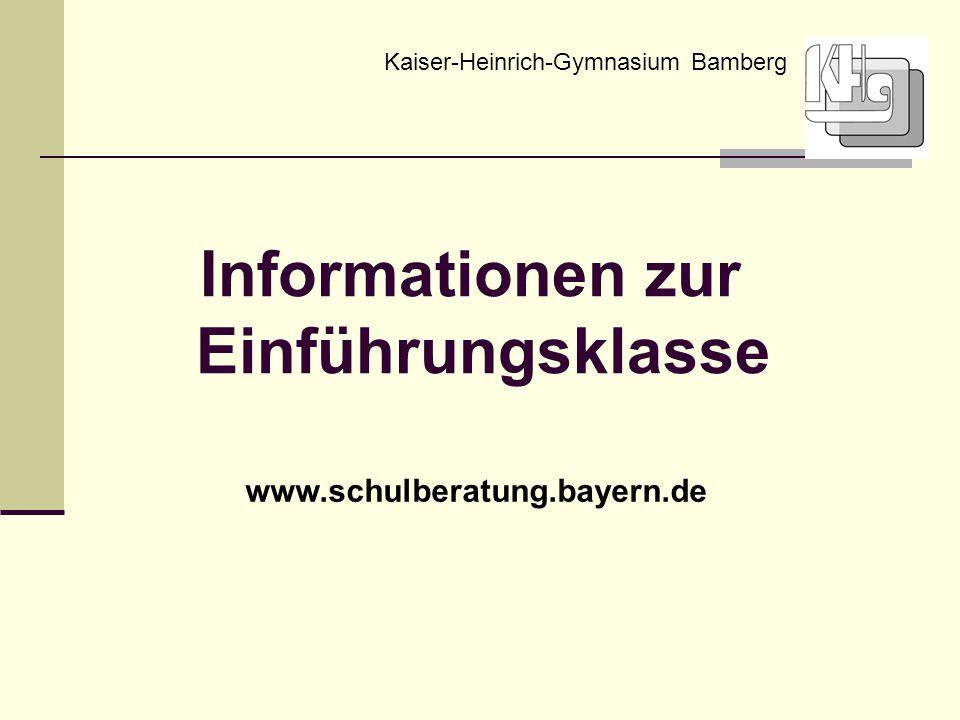 Informationen zur Einführungsklasse