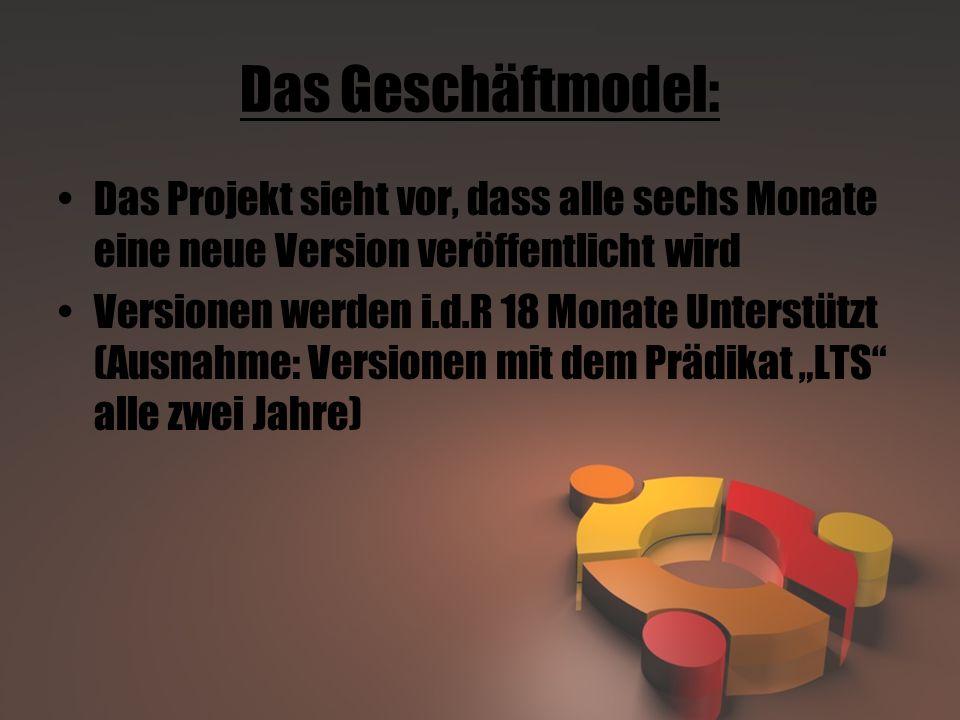 Das Geschäftmodel: Das Projekt sieht vor, dass alle sechs Monate eine neue Version veröffentlicht wird.