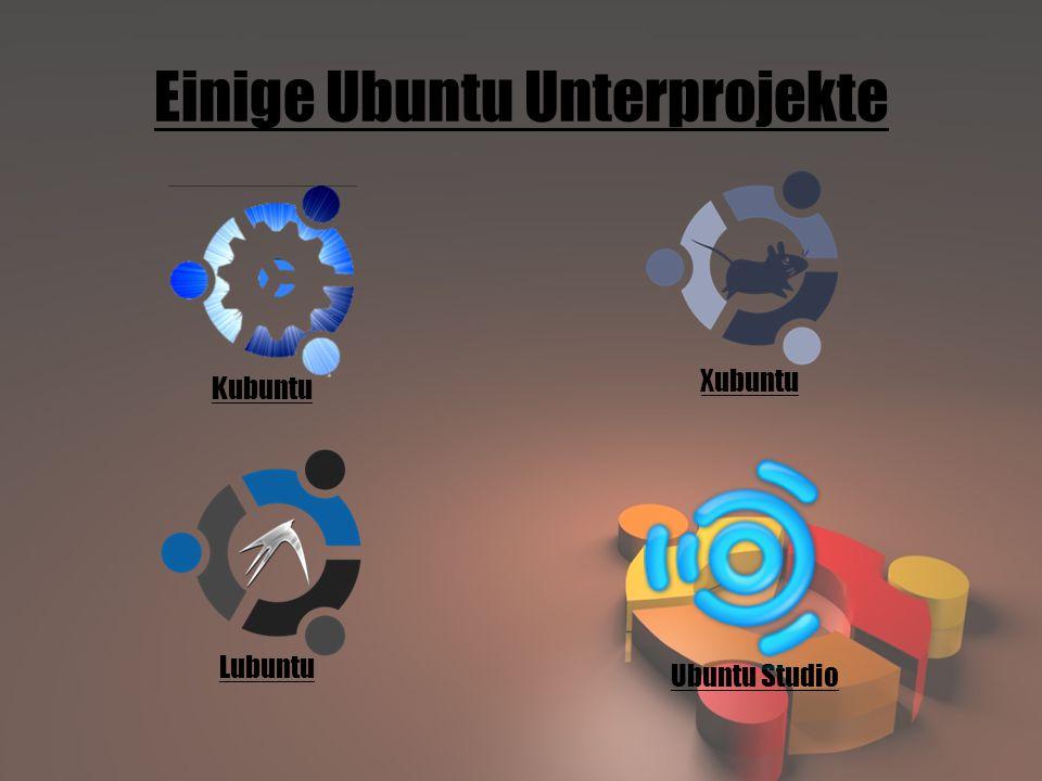 Einige Ubuntu Unterprojekte