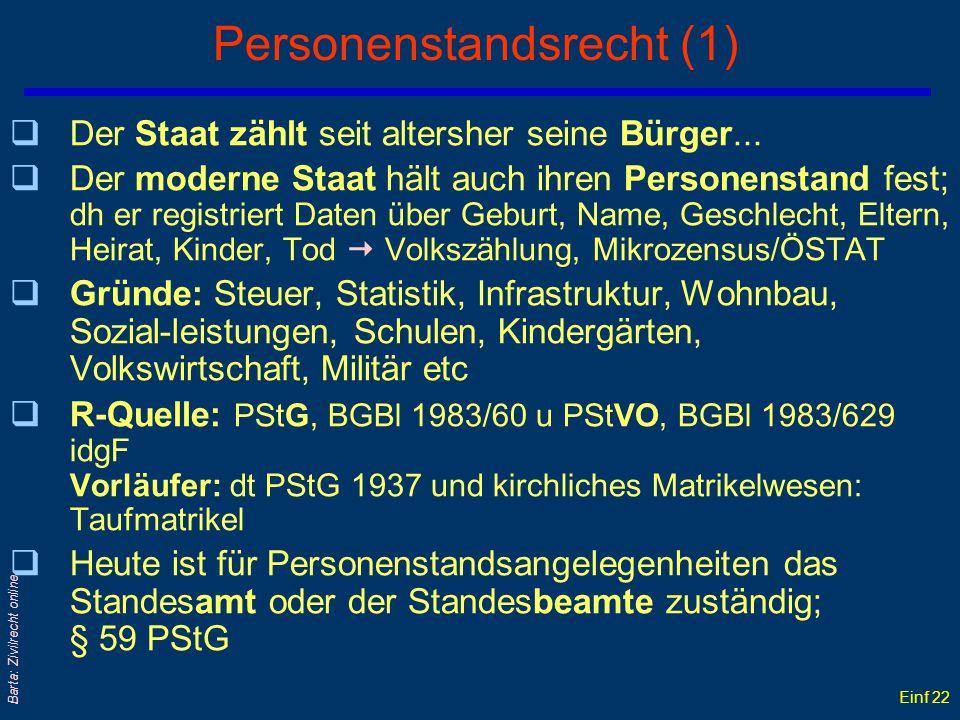 Personenstandsrecht (1)