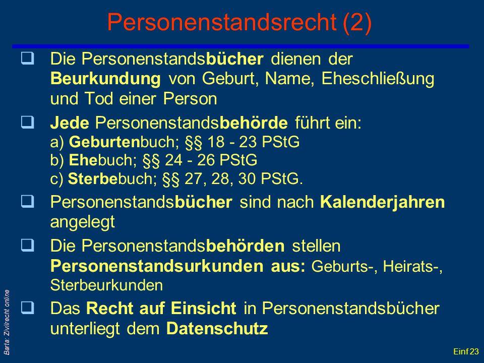Personenstandsrecht (2)
