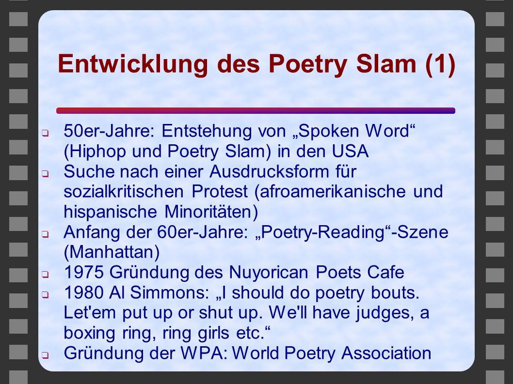 Entwicklung des Poetry Slam (1)