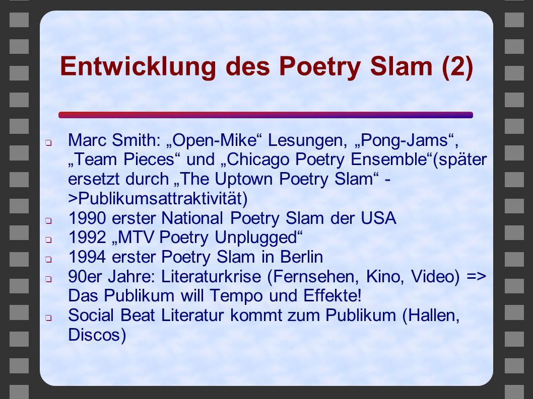 Entwicklung des Poetry Slam (2)