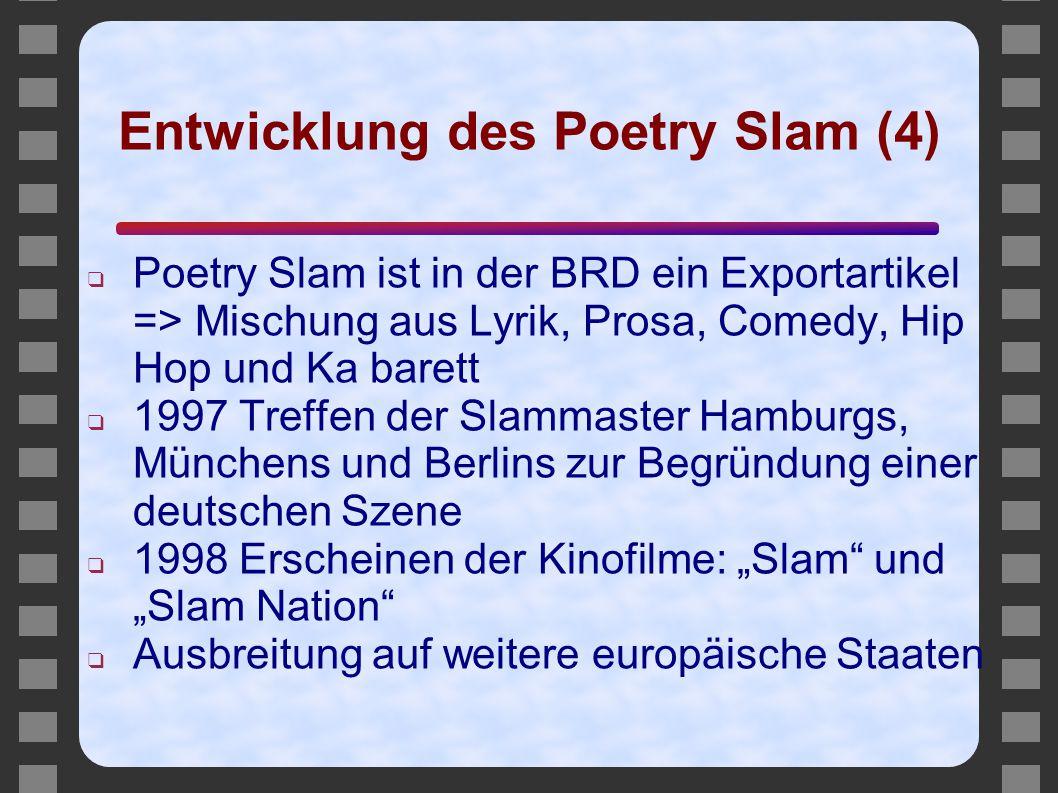 Entwicklung des Poetry Slam (4)