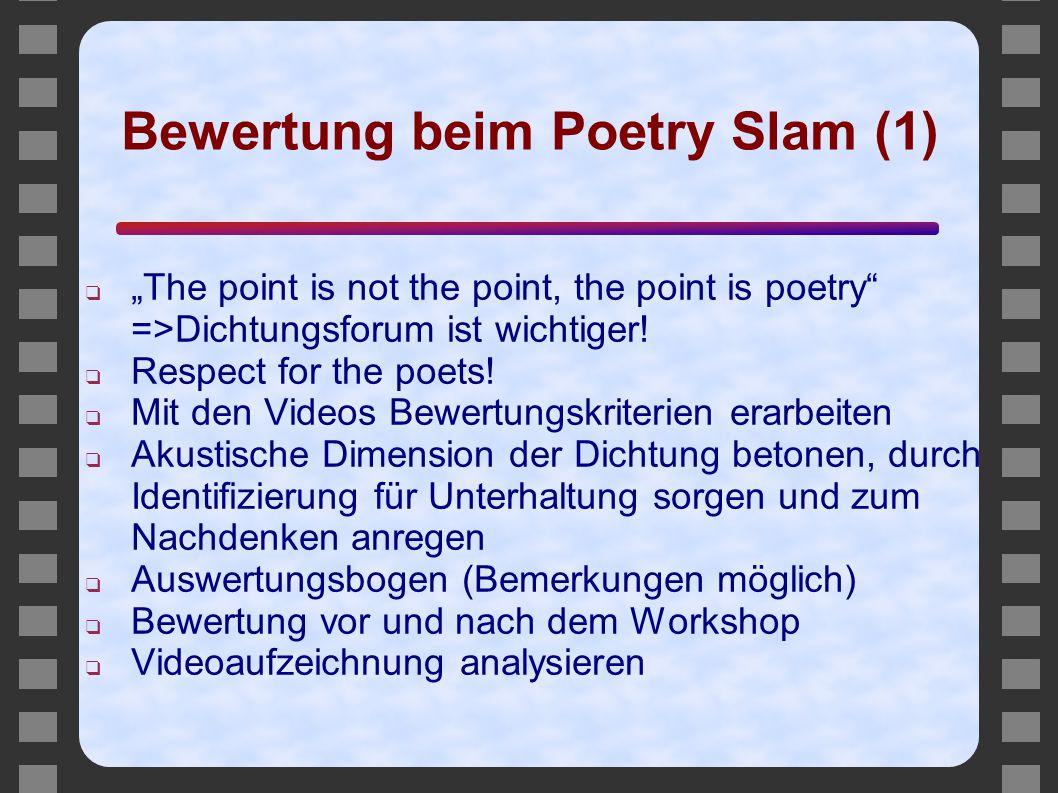 Bewertung beim Poetry Slam (1)