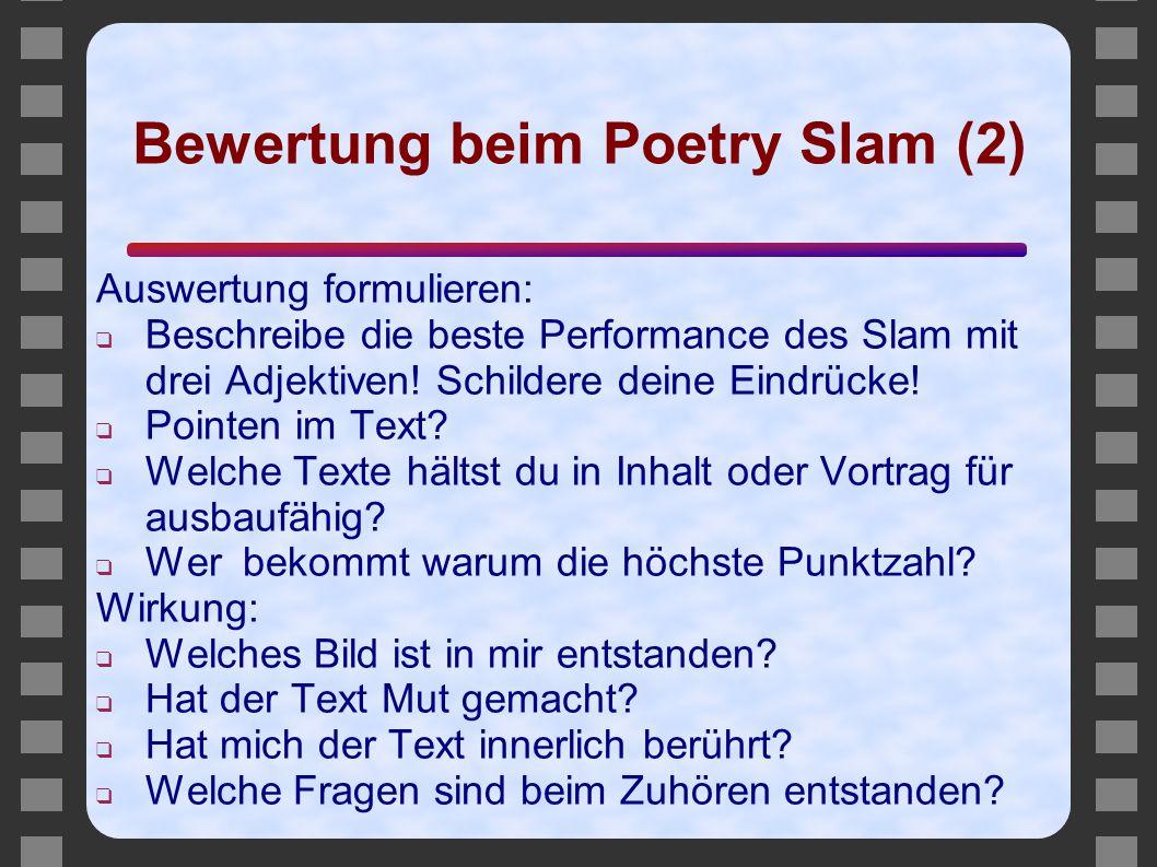 Bewertung beim Poetry Slam (2)