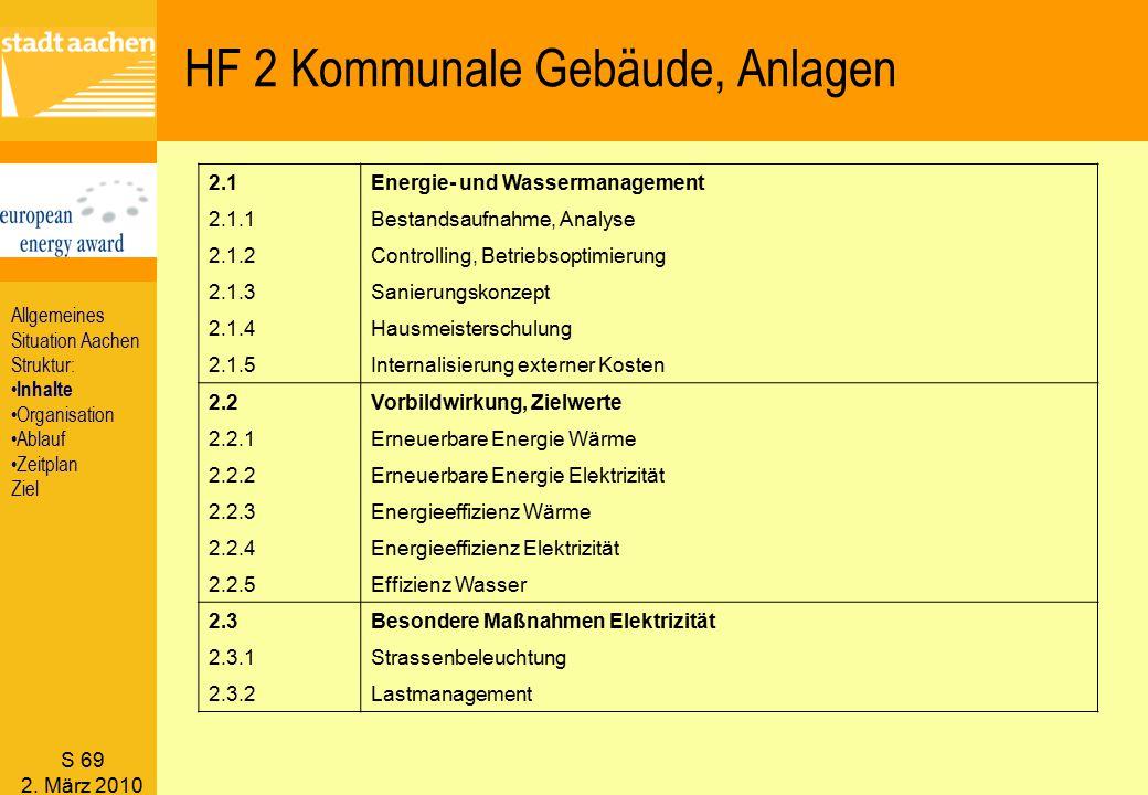 HF 2 Kommunale Gebäude, Anlagen
