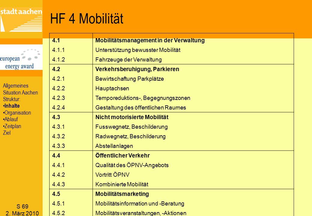 HF 4 Mobilität 4.1 Mobilitätsmanagement in der Verwaltung 4.1.1