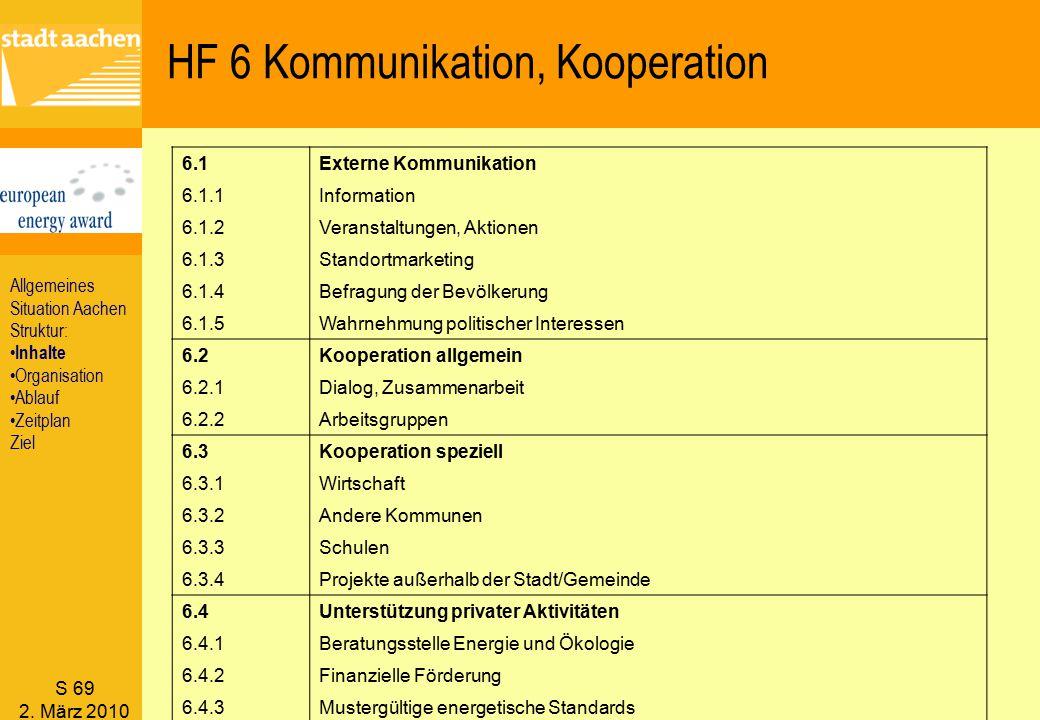 HF 6 Kommunikation, Kooperation