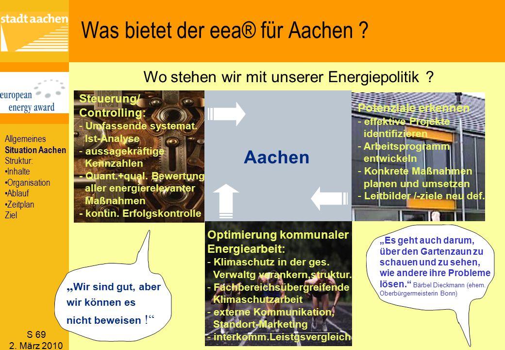 Was bietet der eea® für Aachen