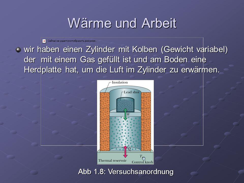Wärme und Arbeit
