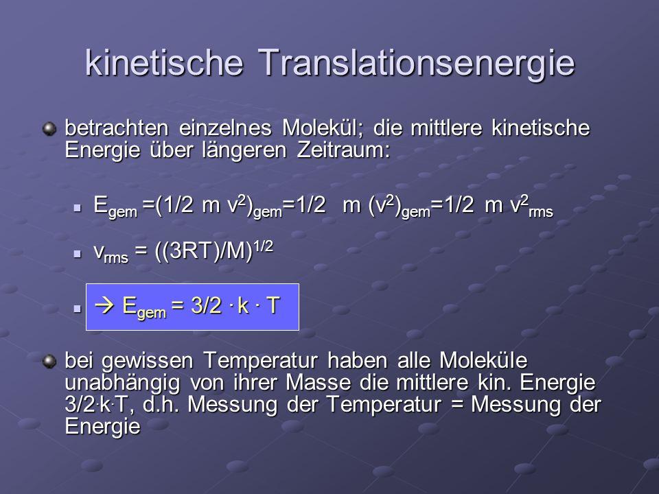 kinetische Translationsenergie