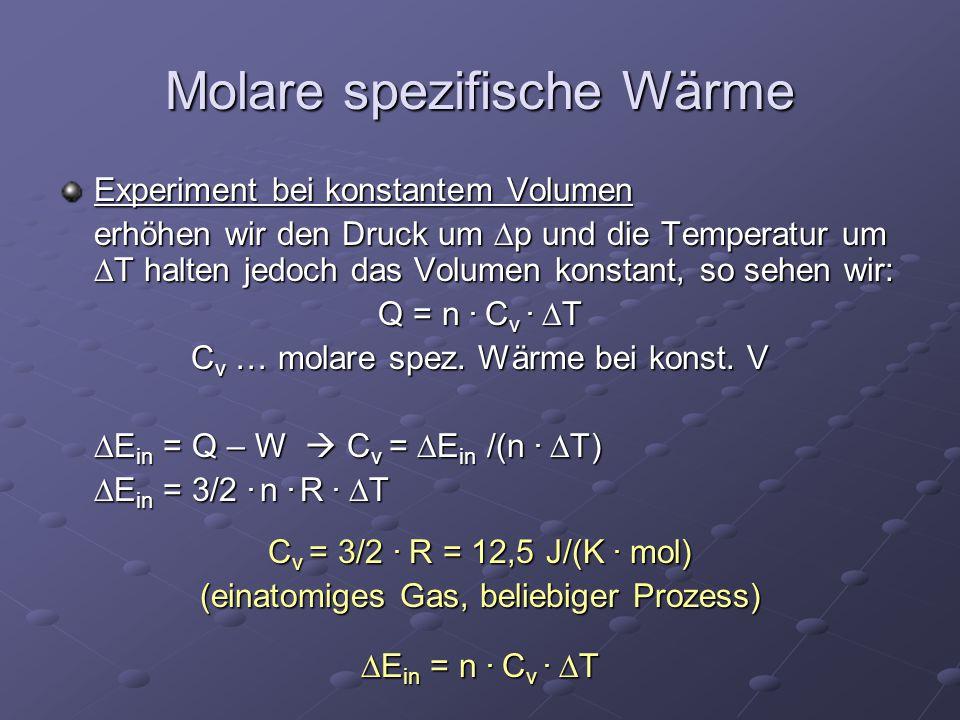Molare spezifische Wärme