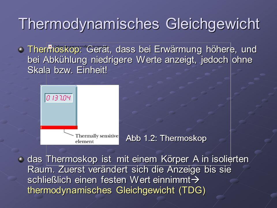 Thermodynamisches Gleichgewicht