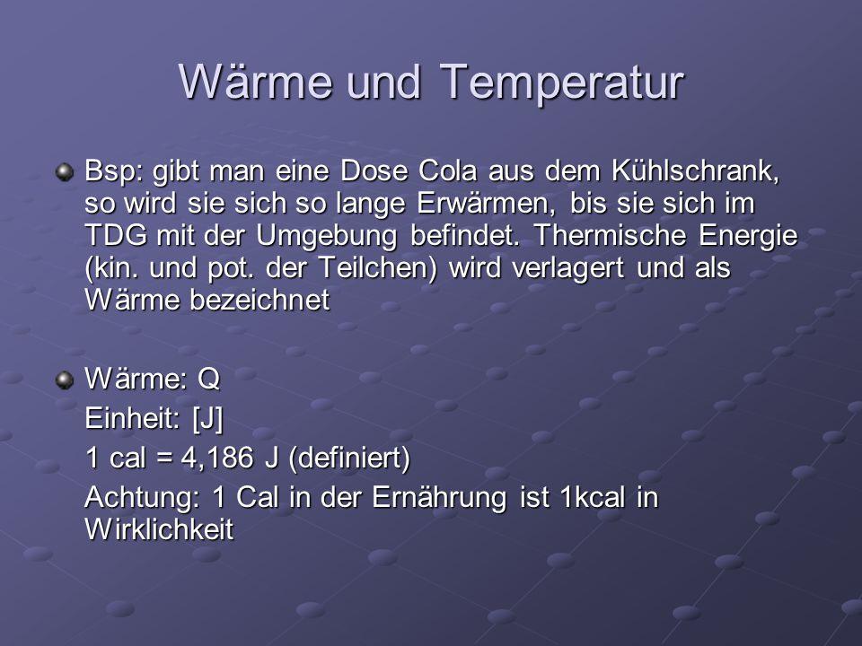 Wärme und Temperatur