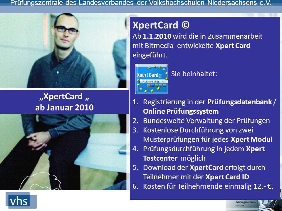 "XpertCard © ""XpertCard "" ab Januar 2010"