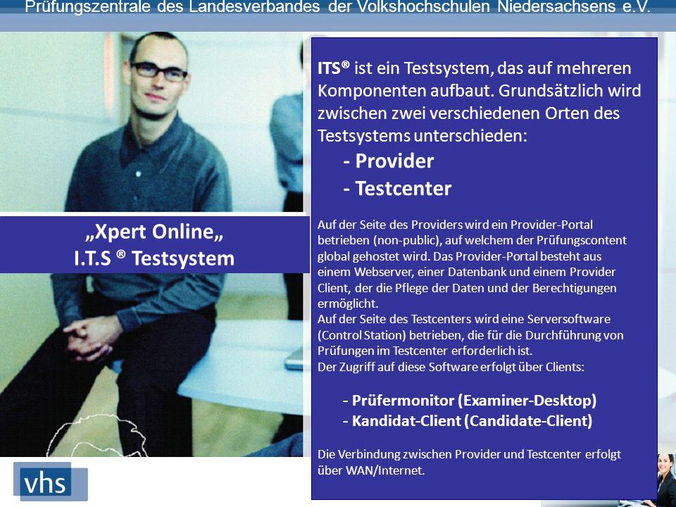 """""""Xpert Online"""" I.T.S ® Testsystem"""