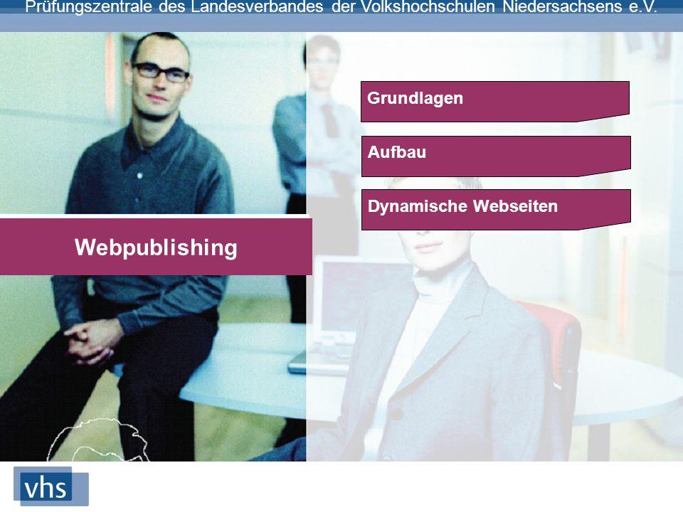 Grundlagen Aufbau Dynamische Webseiten Webpublishing