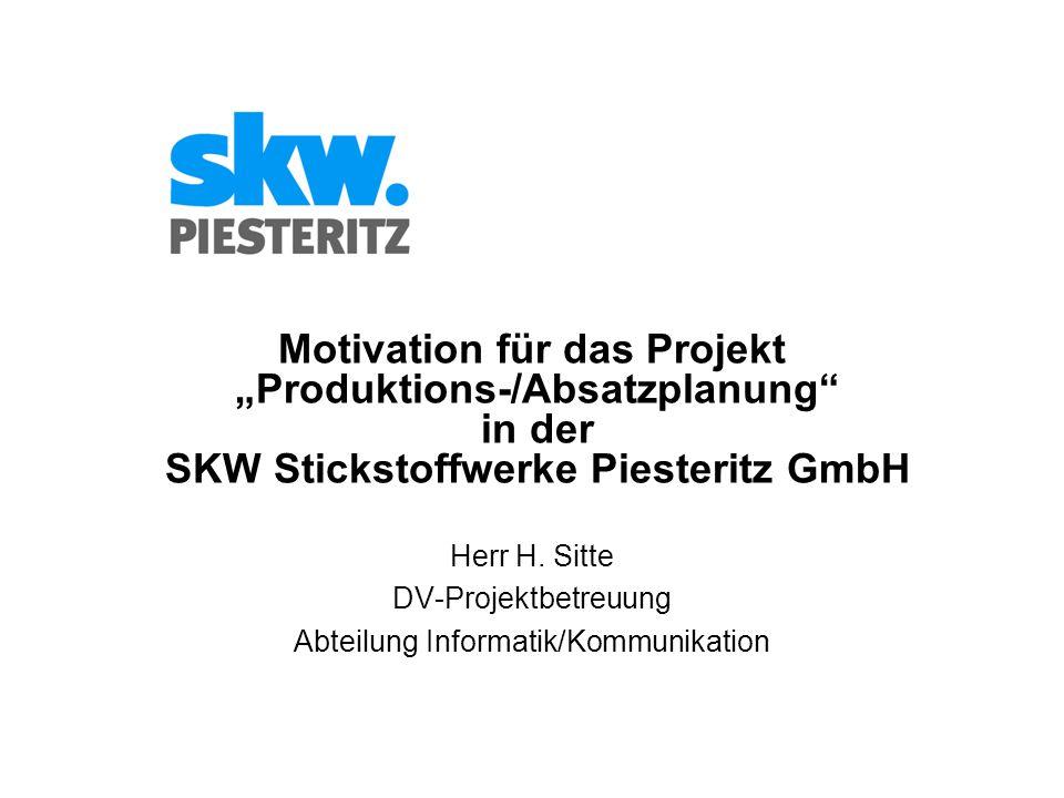 Herr H. Sitte DV-Projektbetreuung Abteilung Informatik/Kommunikation