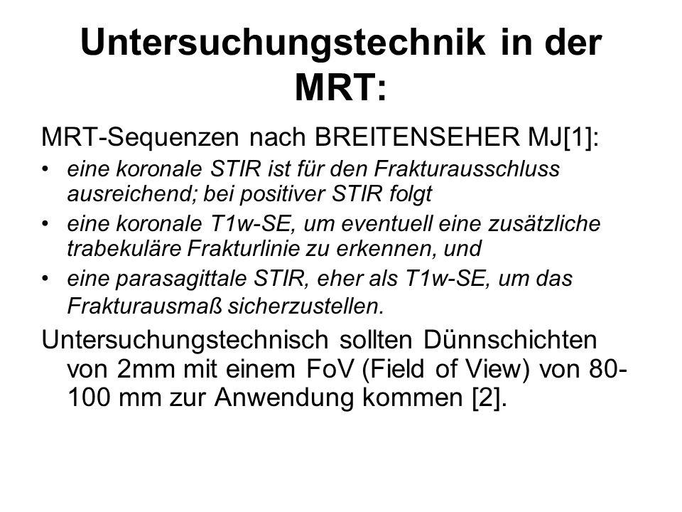 Untersuchungstechnik in der MRT: