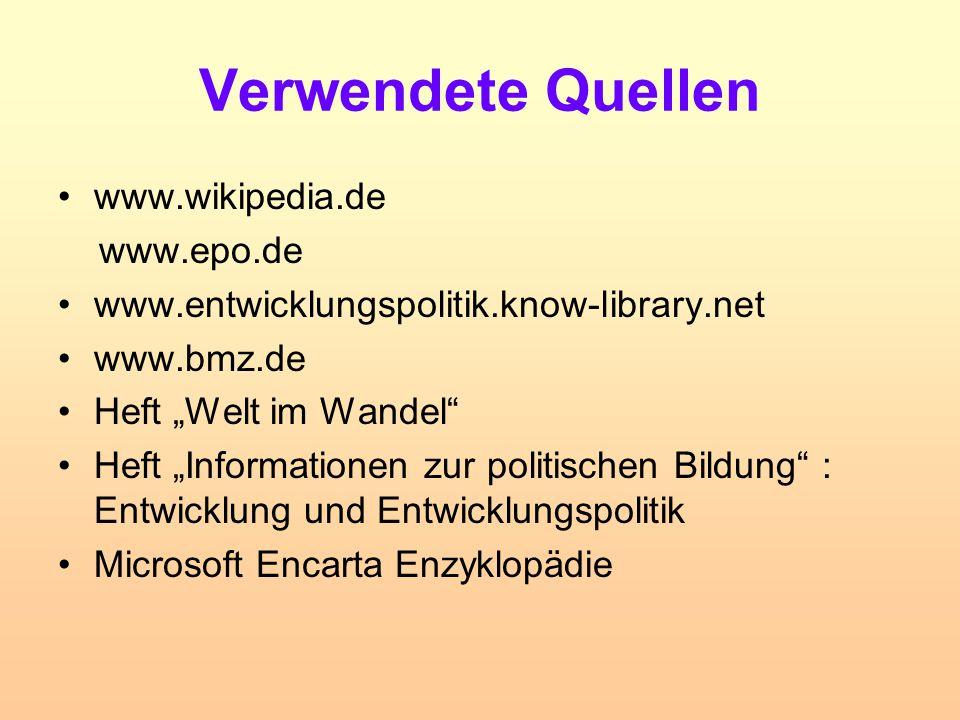 Verwendete Quellen www.wikipedia.de www.epo.de