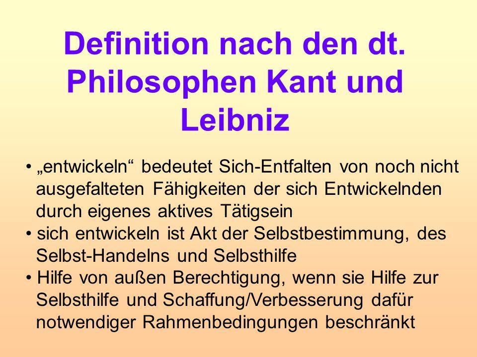 Definition nach den dt. Philosophen Kant und Leibniz