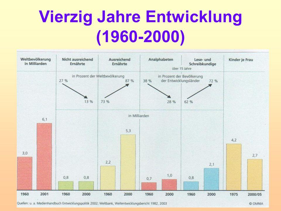 Vierzig Jahre Entwicklung (1960-2000)