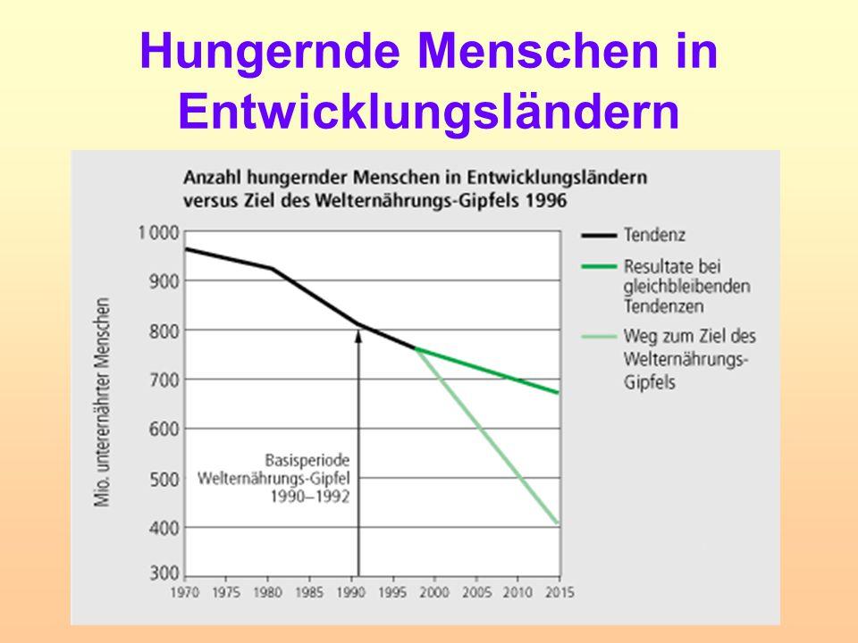 Hungernde Menschen in Entwicklungsländern