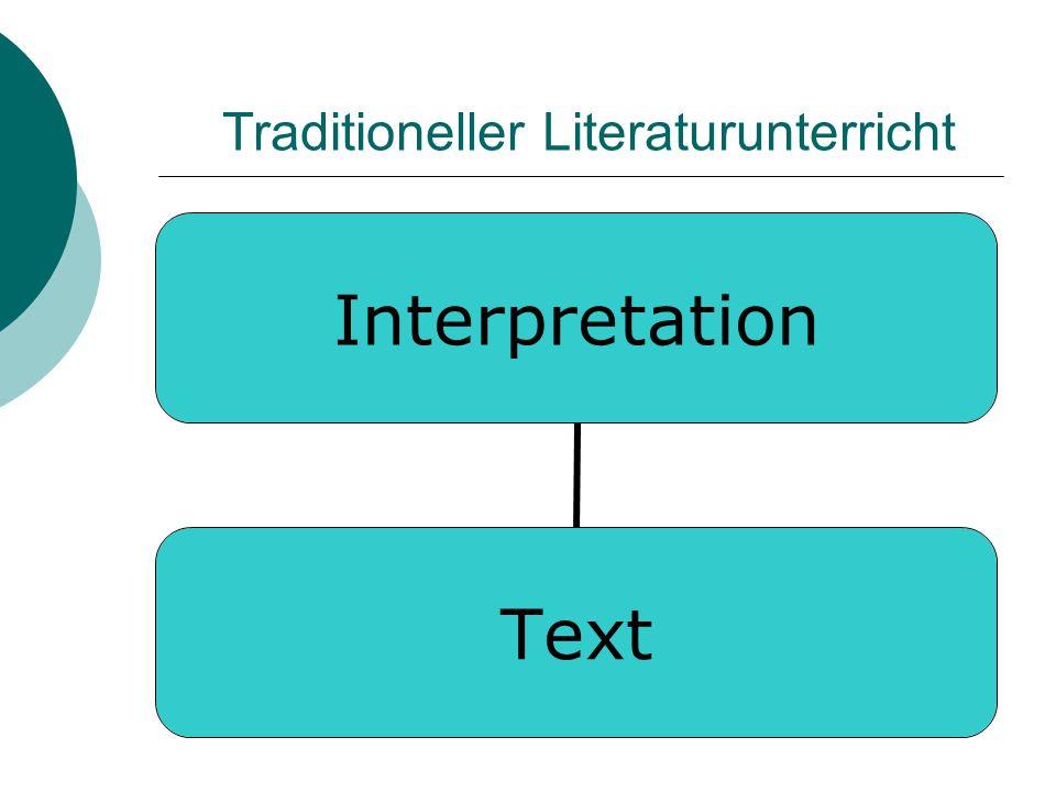 Traditioneller Literaturunterricht