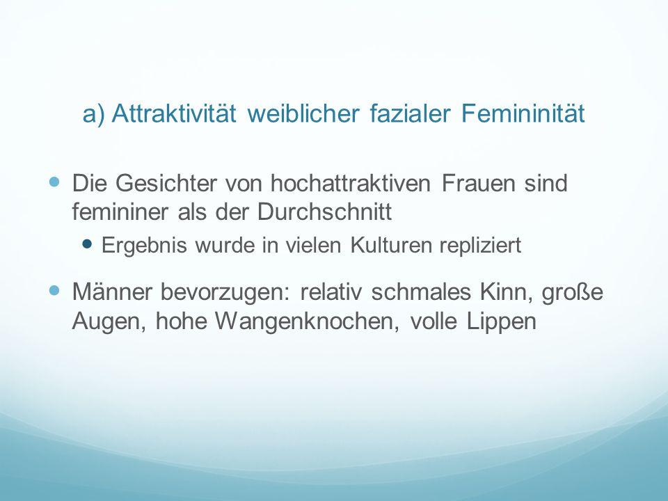 a) Attraktivität weiblicher fazialer Femininität