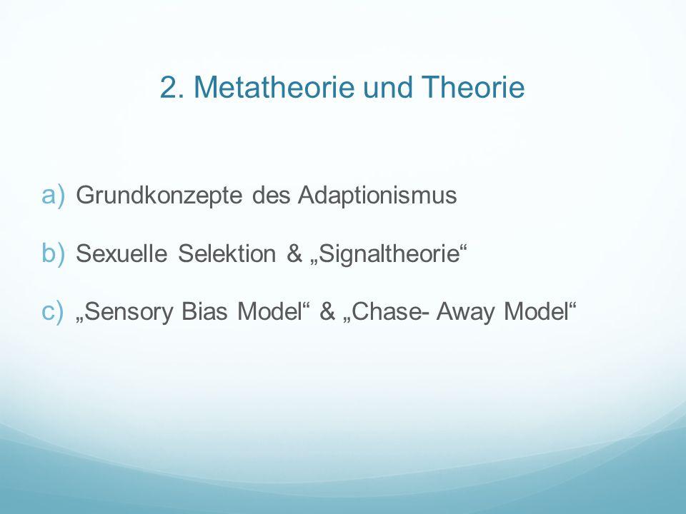 2. Metatheorie und Theorie