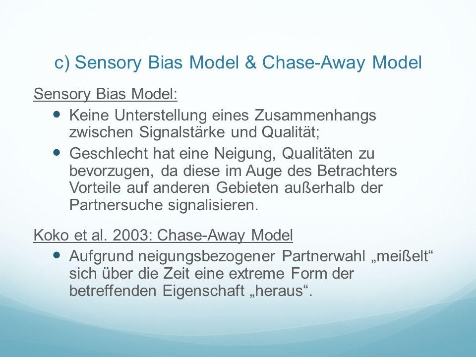 c) Sensory Bias Model & Chase-Away Model