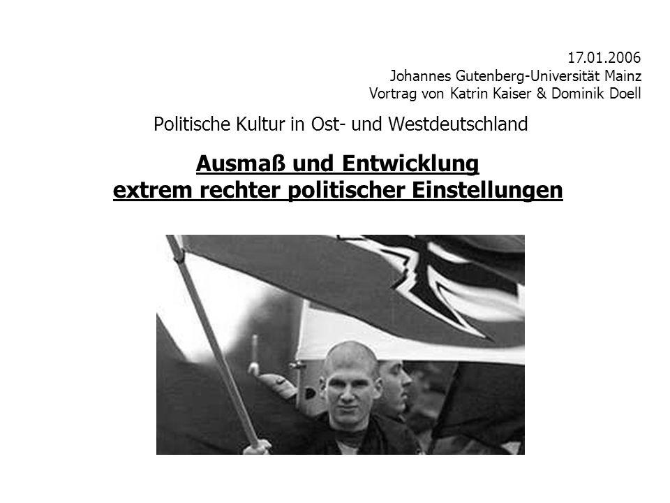 Politische Kultur in Ost- und Westdeutschland