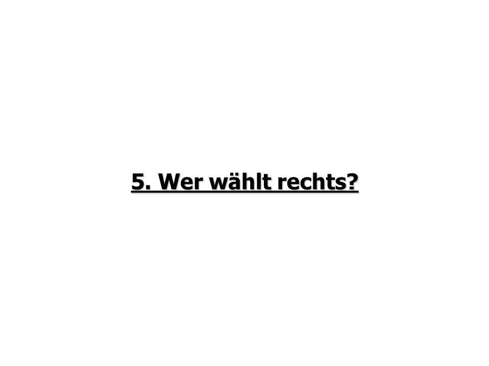 5. Wer wählt rechts