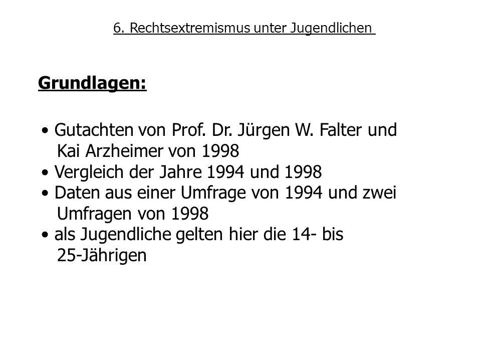 Gutachten von Prof. Dr. Jürgen W. Falter und Kai Arzheimer von 1998